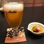 ほの花 - 生ビールとお通し