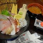 魚屋のどんぶり 魚錠 - 料理写真:地魚丼(1,280円)