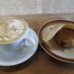 カミノコーヒー - カフェラテとスコーン