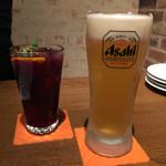 バルバル - サングリア500円 生ビール480円