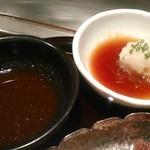 車屋 - [料理] ステーキの浸けダレ 2種