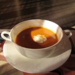 62163135 - 伊勢海老のスープ。