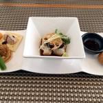 蕎花 - 料理写真:おもてなしコースの前菜です。