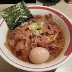 肉そば なおじ - 【肉そば + 味付玉子】¥750 + ¥100
