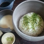 "Oomurokeishokudou - ""伊豆わさび麦とろ丼""1,430円"