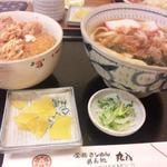 丸八 - うどん&ミニ海老カツ丼・全体像 2017/02/04