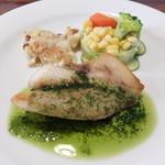 地中海DINING M's COCO - 的鯛のポワレ ソースピスト(ランチ魚コース)