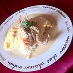 王様のレストラン - 手長海老のモッツァレラチーズのクリームオムライス
