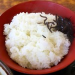 たっちゃんうどん - ライス 150円