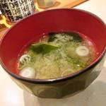 ふじ丸 - 味噌汁