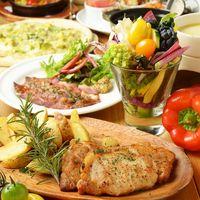 新鮮なお野菜を使ったこだわりのお料理も豊富にご準備