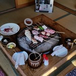 鎌田鳥山 - 席全体の様子