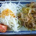 いしかわ - 生姜焼きにキャベツ