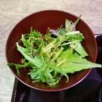 越前まるごと食彩 - 水菜サラダ