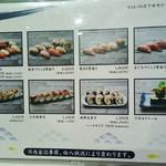 越前まるごと食彩 - 寿司メニュー①