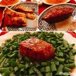 大胡椒 - 肉の旨味が強烈でこのネギニンニク醤油がギンといい感じに合う♡