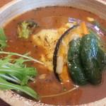 スープ カレー レストラン ゴーヤ - 料理写真:やわらかチキン野菜スープカレー