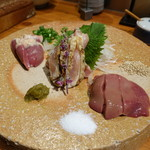 博多串焼き 八乃助 - 刺身三種盛り