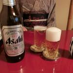 うなぎ割烹 大江戸 - ビール850円
