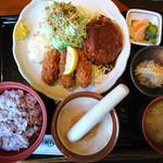 レストラン Kiya - 料理写真:2017年1月 カキフライ&ハンバーグ定食 1320円+税