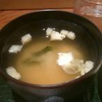 とん亭 - 味噌汁