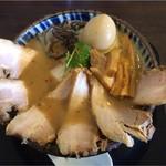 にぼし中華 廣はし - 濃厚にぼしちゃーしゅう大盛り+味玉