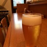 カフェクッカ - セットにはありませんが、ランチに216円プラスすればビールが!ハートランドです
