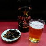 大昇軒 - 料理写真:お通しとビール