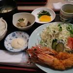 ロンドン - 海老フライ定食