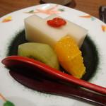 川久 - 甘味「甘酒ようかん・キュウイ・オレンジ」
