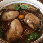 そば処 尾張屋 - かきそば1230円  広島産の牡蠣、でかいです!