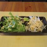 餃子酒場カノウ - サニーレタスと水菜、大根のサラダ