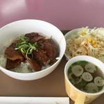 尼崎ドライブスクール - 料理写真:日替定食500円豚バラ炙り焼き丼