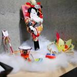 日本料理 太月 - 入口の正月飾り