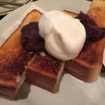喫茶 オモカゲ - バター、小倉、ホイップたっぷり。