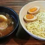 麺屋山岸 - 【つけめん + 半熟煮卵】¥700 + ¥100