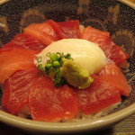 日本料理 銀座 大野 - 本鮪ばくだん丼のアップ