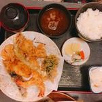 天よし - 天ぷら定食 1700円