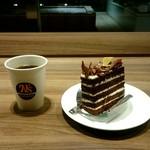 62213843 - ガトーショコラ+ブレンドコーヒー:702円
