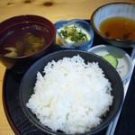 天ぷら すぎ山 - 白飯(天麩羅定食)