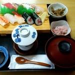 次郎長寿司 - 次郎長定食(竹) \1100