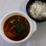 スープカレー カムイ - ポーク野菜カレー990円