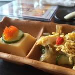 木村屋本店 - 前菜(たまご豆腐&くらげ)