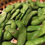 山形長屋酒場 - 綺麗な枝豆
