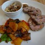 ポモ・ドーロ - 料理写真:1702 ポモ・ドーロ 前菜おまかせ3種盛り@600円×2