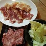 肉小屋フィーバー たむ兄 - ハラミ、つらみ、みの、げたかるび、かいのみ、タン、かっぱ、赤身ロース