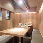 Bistro アサヒスタンド - 店内のテーブル席の風景です