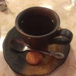 はまの屋パーラー - サンドゥイッチにセットのホットコーヒー¥250