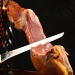炭焼き&ワイン ドリフト - ハモンセラーノ  スペイン産生ハム  切りたてはひと味違います❗