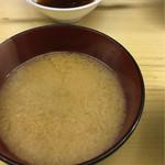 天婦羅 いもや - しじみの味噌汁